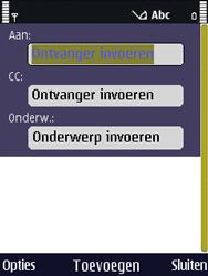 Nokia N86 - E-mail - E-mails verzenden - Stap 5