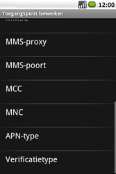 Samsung I5700 Galaxy Spica - MMS - Handmatig instellen - Stap 10
