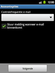 Samsung S5360 Galaxy Y - E-mail - e-mail instellen: IMAP (aanbevolen) - Stap 18