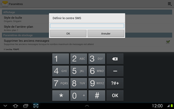 Samsung P5100 Galaxy Tab 2 10-1 - SMS - configuration manuelle - Étape 6