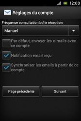 Sony ST21i Xperia Tipo - E-mail - Configuration manuelle - Étape 13