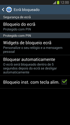 Samsung Galaxy S3 - Segurança - Como ativar o código de bloqueio do ecrã -  12