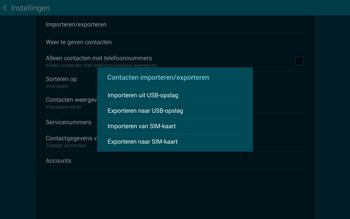 Samsung Galaxy Tab S 10.5 4G (SM-T805) - Contacten en data - Contacten kopiëren van toestel naar SIM - Stap 7