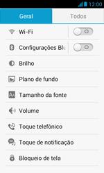 Huawei Y340 - Rede móvel - Como ativar e desativar uma rede de dados - Etapa 4