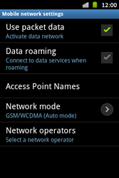 Samsung S6500D Galaxy Mini 2 - Network - Usage across the border - Step 11