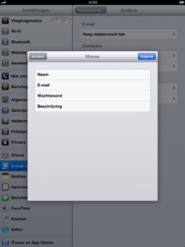 Apple iPad mini - E-mail - Handmatig instellen - Stap 9