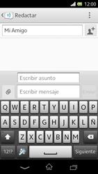 Sony Xperia L - Mensajería - Escribir y enviar un mensaje multimedia - Paso 11