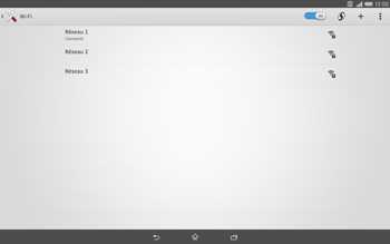 Sony Xperia Tablet Z2 (SGP521) - Wifi - configuration manuelle - Étape 7