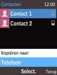 Nokia 215 (Type RM-1111) - Contacten en data - Contacten kopiëren van SIM naar toestel - Stap 7