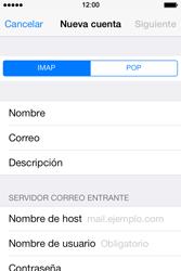 Apple iPhone 4S iOS 7 - E-mail - Configurar correo electrónico - Paso 10