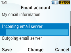 Samsung S3350 Chat 335 - E-mail - Manual configuration - Step 15