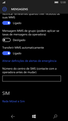 Microsoft Lumia 650 - SMS - Como configurar o centro de mensagens -  8