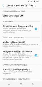 Samsung Galaxy S8 - Sécuriser votre mobile - Personnaliser le code PIN de votre carte SIM - Étape 6