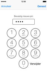 Apple iPhone 4S met iOS 8 (Model A1387) - Beveiliging en ouderlijk toezicht - Hoe wijzig ik mijn SIM PIN-code - Stap 11
