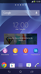 Sony Xpéria M2 - Applications - Supprimer une application - Étape 1