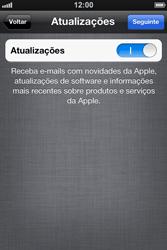 Apple iPhone iOS 5 - Primeiros passos - Como ativar seu aparelho - Etapa 19