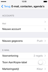 Apple iPhone 4 iOS 7 - E-mail - Account instellen (POP3 zonder SMTP-verificatie) - Stap 14