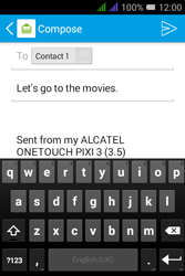 Alcatel Pixi 3 - 3.5 - Email - Sending an email message - Step 9
