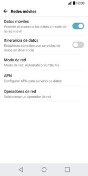 LG G6 - Red - Seleccionar el tipo de red - Paso 5