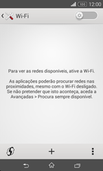 Sony Xperia E1 - Wi-Fi - Como ligar a uma rede Wi-Fi -  5