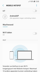 Samsung galaxy-s7-android-oreo - WiFi - Mobiele hotspot instellen - Stap 11