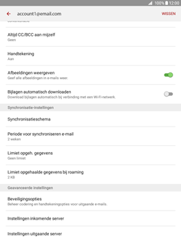 Samsung Galaxy Tab A 9.7 (SM-T555) - E-mail - Instellingen KPNMail controleren - Stap 12