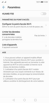 Huawei P20 - Internet et connexion - Partager votre connexion en Wi-Fi - Étape 6