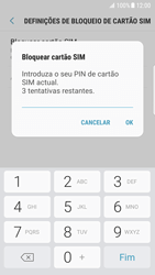 Samsung Galaxy S7 Edge - Android Nougat - Segurança - Como ativar o código PIN do cartão de telemóvel -  8