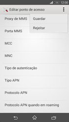 Sony Xperia M2 - Internet no telemóvel - Como configurar ligação à internet -  15