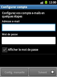 Samsung S5300 Galaxy Pocket - E-mail - Configuration manuelle - Étape 5