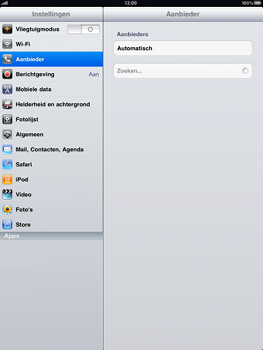 Apple iPad - Netwerk - gebruik in het buitenland - Stap 5
