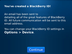 BlackBerry 9900 Bold Touch - BlackBerry activation - BlackBerry ID activation - Step 12