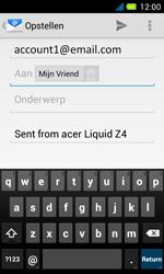 Acer Liquid Z4 - E-mail - Hoe te versturen - Stap 7