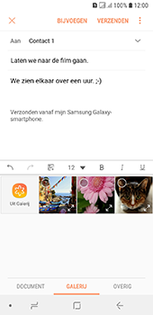 Samsung galaxy-a6-sm-a600fn-ds - E-mail - Bericht met attachment versturen - Stap 13