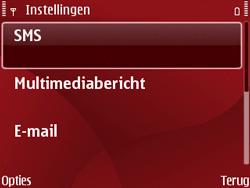 Nokia E63 - SMS - Handmatig instellen - Stap 6