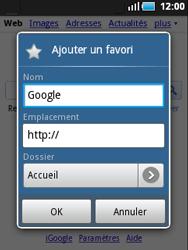 Samsung S5570 Galaxy Mini - Internet - navigation sur Internet - Étape 5