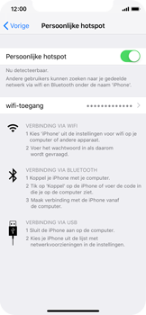 Apple iphone-xs-model-A1920 - WiFi - Mobiele hotspot instellen - Stap 8