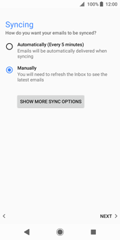 Sony Xperia XZ2 - E-mail - Manual configuration POP3 with SMTP verification - Step 21