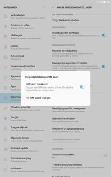 Samsung Galaxy Tab A 10.1 - Android Nougat - Beveiliging en ouderlijk toezicht - Hoe wijzig ik mijn SIM PIN-code - Stap 7