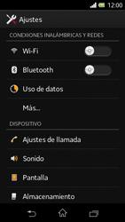 Sony Xperia L - Funciones básicas - Activar o desactivar el modo avión - Paso 4