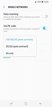 Samsung Galaxy S8 - Network - Change networkmode - Step 8
