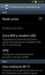 Samsung i8260 Galaxy Core - Funciones básicas - Activar o desactivar el modo avión - Paso 7