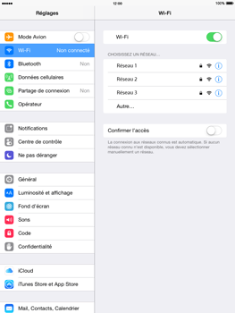 Apple iPad Air iOS 8 - Wifi - configuration manuelle - Étape 4