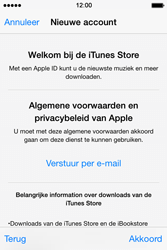 Apple iPhone 4s iOS 8 - Applicaties - Account aanmaken - Stap 11