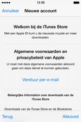 Apple iPhone 4S met iOS 8 (Model A1387) - Applicaties - Account aanmaken - Stap 11
