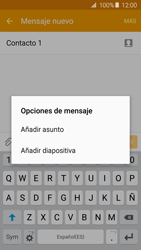 Samsung Galaxy A5 (2016) - Mensajería - Escribir y enviar un mensaje multimedia - Paso 13