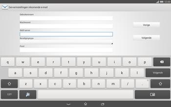 Sony Xperia Tablet Z2 (SGP521) - E-mail - e-mail instellen: IMAP (aanbevolen) - Stap 9