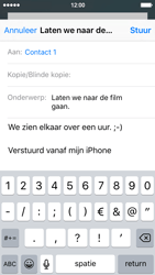 Apple iPhone 5s met iOS 9 (Model A1457) - E-mail - Hoe te versturen - Stap 8