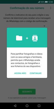 Huawei P Smart - Aplicações - Como configurar o WhatsApp -  6