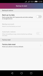 Huawei Y5 II - Device maintenance - How to do a factory reset - Step 5